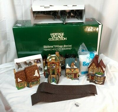 Dept 56 Heritage Village Dickens' Village Manchester Square 25 Piece Set 58301