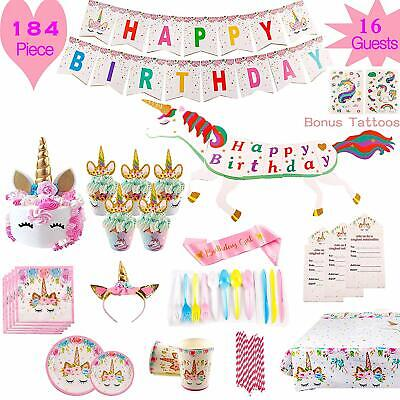 PREMIUM MAGICAL UNICORN Mermaid Birthday Party Supplies