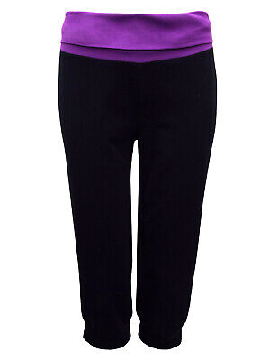 Black & Plum Maternity Crop Lounge Trousers Size 6 8 10 12 14 16 18 20 22 24 26