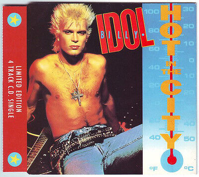 BILLY IDOL - HOT IN THE CITY / CATCH MY FALL / MONY - Limited Ed Remix Cd Single