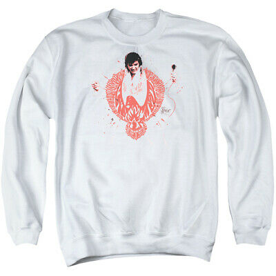 ELVIS PRESLEY SWEATSHIRT Red Phoenix Suit White Pullover - $35 99