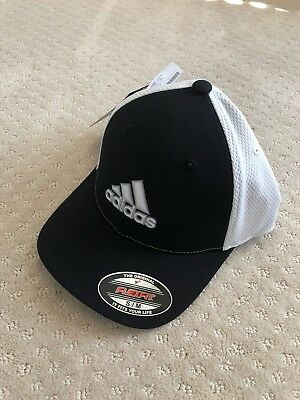 a33d387bb79 NWT Adidas Golf Men s Climacool Tour Cap Hat Collegiate Navy S M FlexFit  DN3413