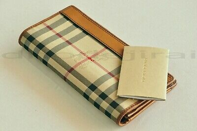 Authentic BURBERRY Cavendish Horseferry Check Continental Mens/Womens Wallet Tan