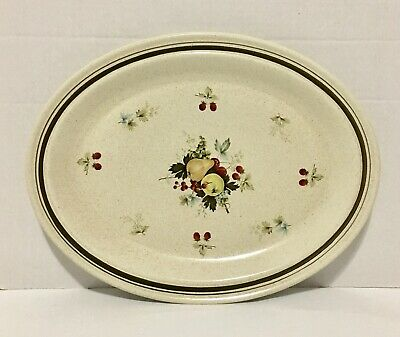 Royal Doulton Lambeth Stoneware Cornwall L S 1015 Oval Platter Vintage 1975
