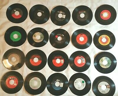 Lot Of 20 45RPM Pop Rock Soul Funk Jukebox Wholesale Random Vinyl Records