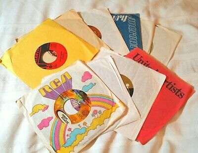 Lot Of 10 45RPM Pop Rock Soul Funk Jukebox Wholesale Random Vinyl 45 Record