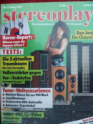 Stereoplay 1/89,audiostatic Es 900 R,fischer Anthaeus,i.q System One;mirage M 1