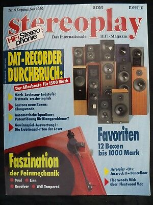Stereoplay 9/90,levinson 29,sac Marcato,deutsch Hd 311+Ft 07,sony Dtc 55 Es,tsm