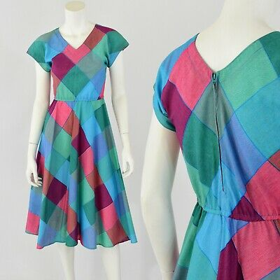 30a7415f66 VINTAGE 70'S MULTI Colored Terry Cloth Beach Coverup By Catalina ...