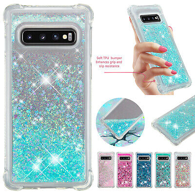 For Samsung S10 S10 Plus S10e Glitter Quicksands Shockproof Rubber Case Cover