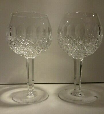 """*RARE* Waterford Crystal COLLEEN (1953-) Set of 2 Balloon Wine Hocks 7 1/8"""""""
