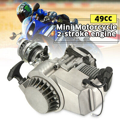 49CC 2 Stroke Pull Start Engine MINI Motor Pocket Quad Pit Dirt Bike ATV Buggy