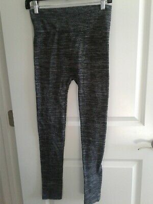 4a2e3c96b82cca One 5 One Womens Leggings Grey Fleece Stretch Wide Waistband Textured Size  L/XL