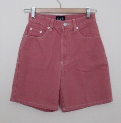 62f0f1c0a45c9 Vintage Gap Womens Pink Denim High Waisted Shorts Retro Classic Hipster Size  1
