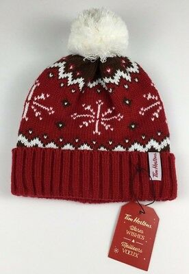 6b9c002ac0b Tim Hortons Coffee Winter Toque HAT RED New Tags One Size 2016