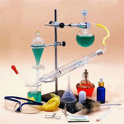 250ML Glass Essential Oil Steam Distilling Apparatus Hydrosol Distillation Kit