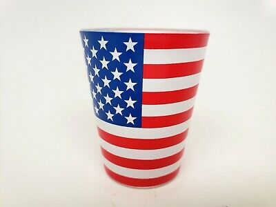 American Flag Shot Glass - Made from Glass - Not Plastic -  Free Shipping