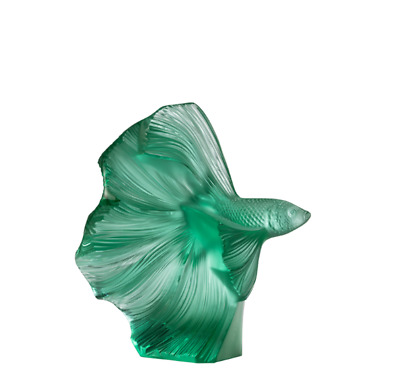 Lalique Fighting Fish Small Mint Green