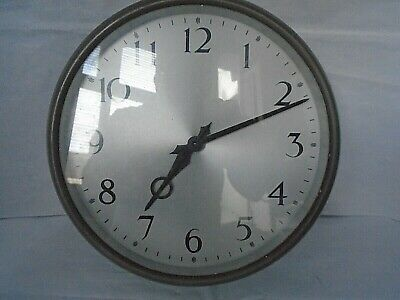 VINTAGE 1950's SCHOOL FACTORY or OFFICE WALL ELECTRIC WALL CLOCK by SYNCHRONOME