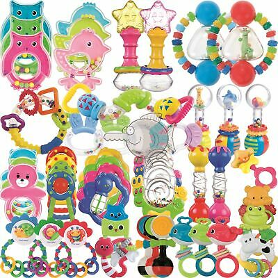Plastic Baby Hand Shake Bell Ring Rattles toys Baby Educational