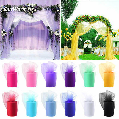 "6"" wide x 100yard Tutu Tulle Roll Soft Netting Graft Fabric Wedding Favors Decor"