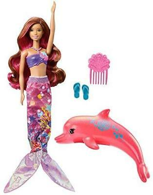 NEW Barbie Dolphin Magic Transforming Mermaid Doll Fin to Dress Changes Color