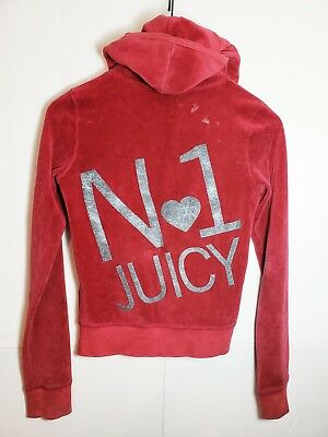 3d43a5a475ee JUICY COUTURE M Deep Burgundy Velour Full Zip Jacket -  3.47