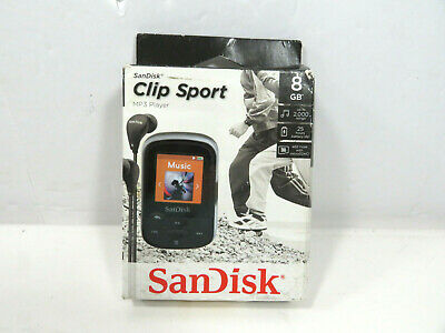 SanDisk Clip Sport 8GB MP3 Player, Black With LCD Screen and MicroSDHC Card Slot