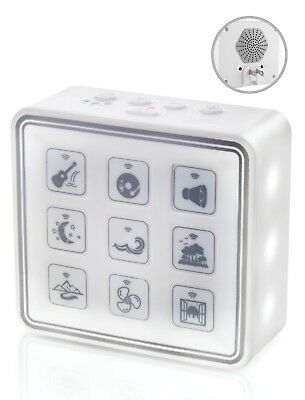 Plug-In White Noise Sound Machine With Nightlight For Adults And Baby