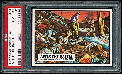 1962 Civil War News # 24 ~ After The Battle ~ Graded Psa 8 Nm-Mint { Tough ! }