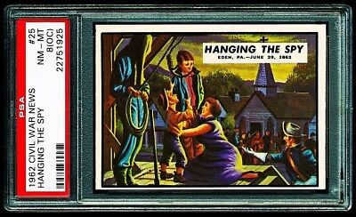 1962 CIVIL WAR NEWS # 25 ~ HANGING THE SPY ~ GRADED PSA 8 NM-MINT { oc }