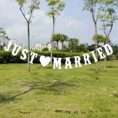 Just Married Wedding Garland Paper Banner Bunting Product Size: 5cm x 15cm