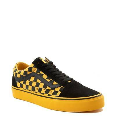 5a791dac177e19 VANS OLD SKOOL Chex Skate Shoe Black Spectra Yellow Checkerboard NEW ...