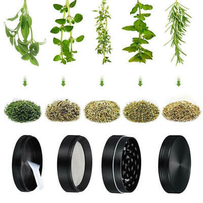 40mm Tobacco Herb Grinder Spice Herbal 4 Pieces Metal Zinc Alloy Smoke Crusher