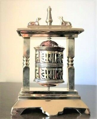 Prayer Wheel-Tibetan Metal-FREE POSTAGE