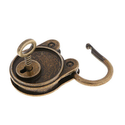 Vintage Antique Style Mini Bear Shape Padlocks Key Lock for Bags Bronze