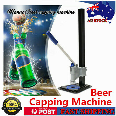 NEW Manual Beer Bottle Capping Machine Manual brew Sealing Bottle Capper AU