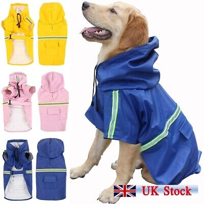 Waterproof Pet Dog Coat Jacket Vest Raincoat Clothes Dog Rain Coat Reflective