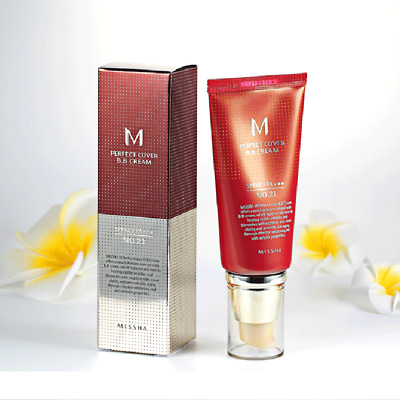 New 23 /21 Light Natural Beige MISSHA M Perfect Cover BB Cream SPF42/PA+++ 50ml