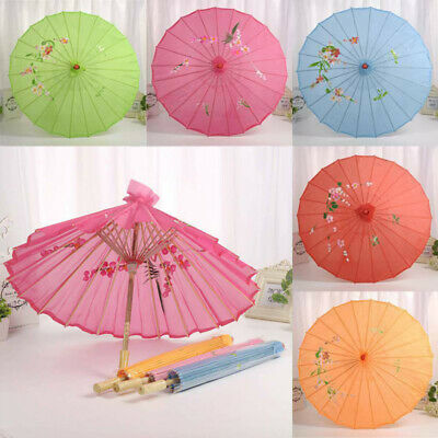 Chinese Style Oil Paper Umbrella Parasol Wedding Dance Ceiling Decor Photo Props