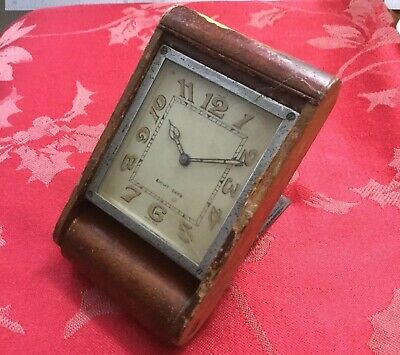 Jaeger Folding Bedroom Clock For Spares Repair Running Strong