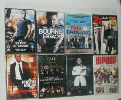 Joblot Bundle of 10, Mixed DVDs This is England, Jason Bourne sport etc
