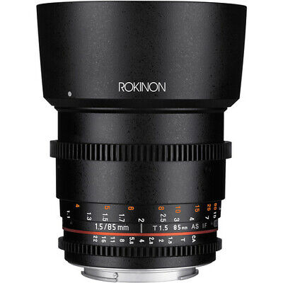 Rokinon 85mm T1.5 Cine DS Lens for Canon EF Mount #DS85M-C