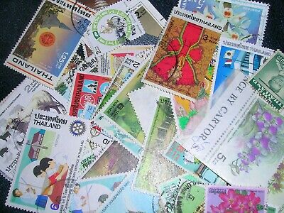 Thailand  postage stamps  over 100 in great cond
