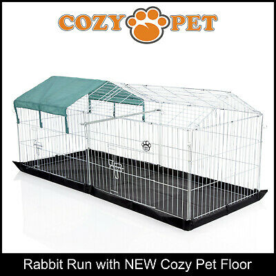 Cozy Pet Rabbit Run Play Pen Guinea Pig Playpen Puppy Cage Hutch RR06+Floor