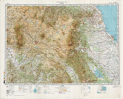 RUSSIAN SOVIET MILITARY Topographic Maps – MEXICO, 1:500 000, ed ...