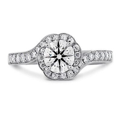 1.20 Ct Round Bridal Diamond Engagement Ring 14K Solid White Gold Size 7  0087