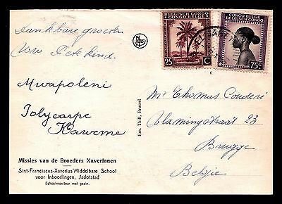 Belgian Congo Picture P/C Family Franked with Sc #195 & 210 in Elisabethville
