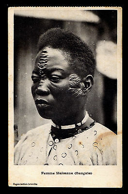 Belgian Congo Picture P/C Scarrified Woman Franked with Sc #46 Matadi to Bern