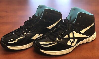 "90aacacb9f55d4 Reebok ""VIBETECH"" Hi-Top Mens Basketball Sneakers Size 12 Black Teal"